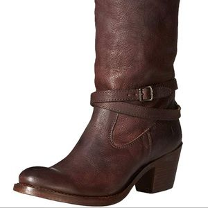 Frye Strappy Jane leather boots